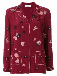 Valentino floral patch pyjama top - Red