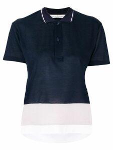 Golden Goose cropped polo shirt - Blue