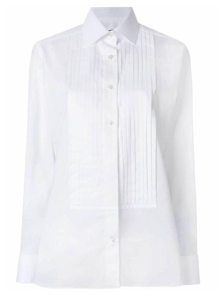 Tom Ford pleated placket shirt - White