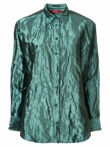 Sies Marjan crinkle-effect metallic shirt - Blue