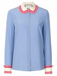 Gucci neck tie shirt - Blue