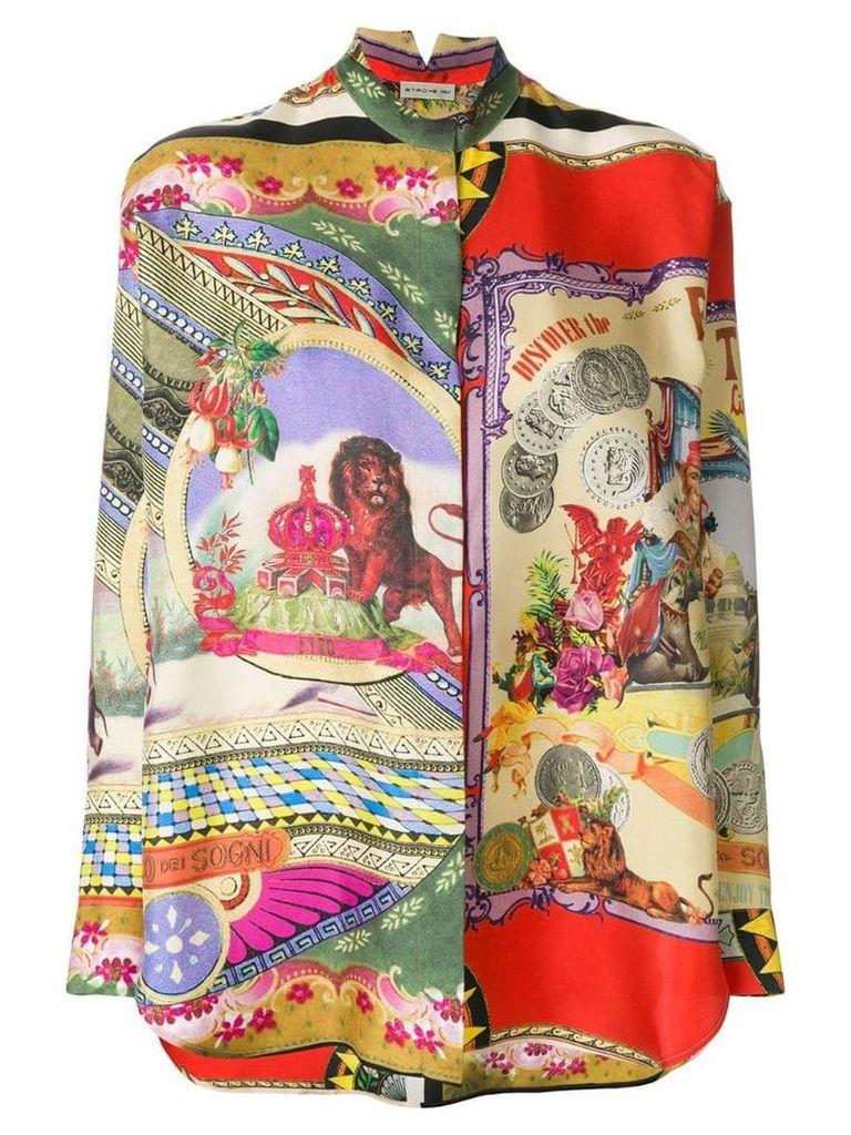 Etro mixed print shirt - Multicolour