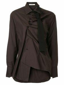 Aganovich asymmetric fitted shirt - Brown