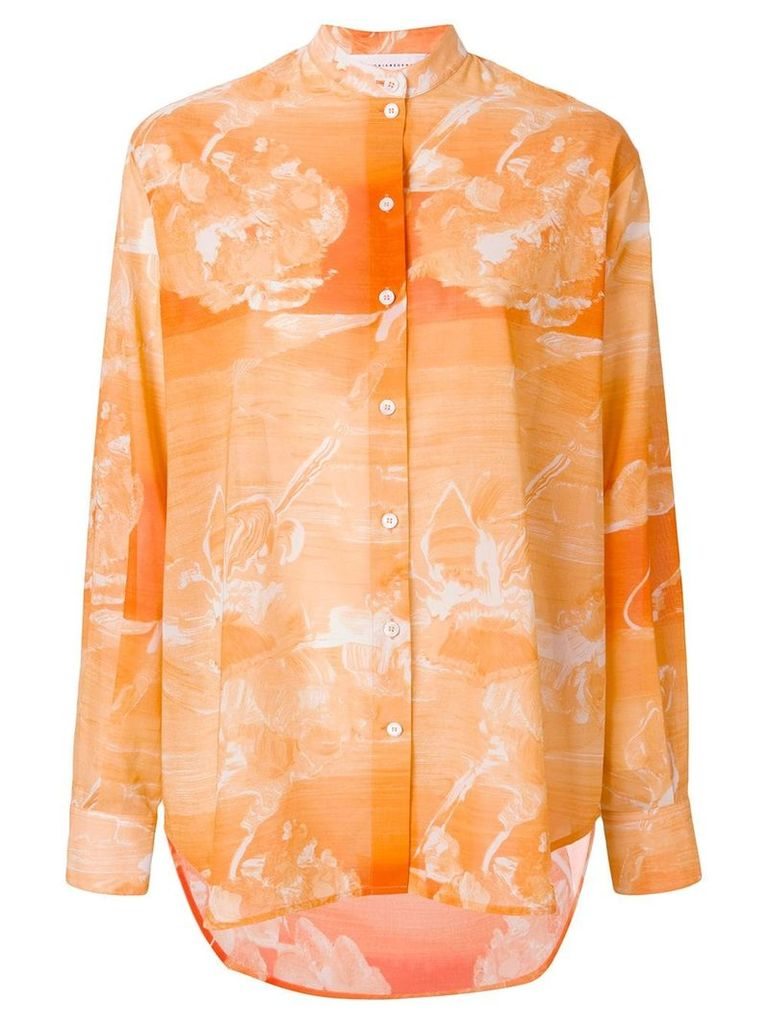Victoria Beckham marble effect shirt - Yellow