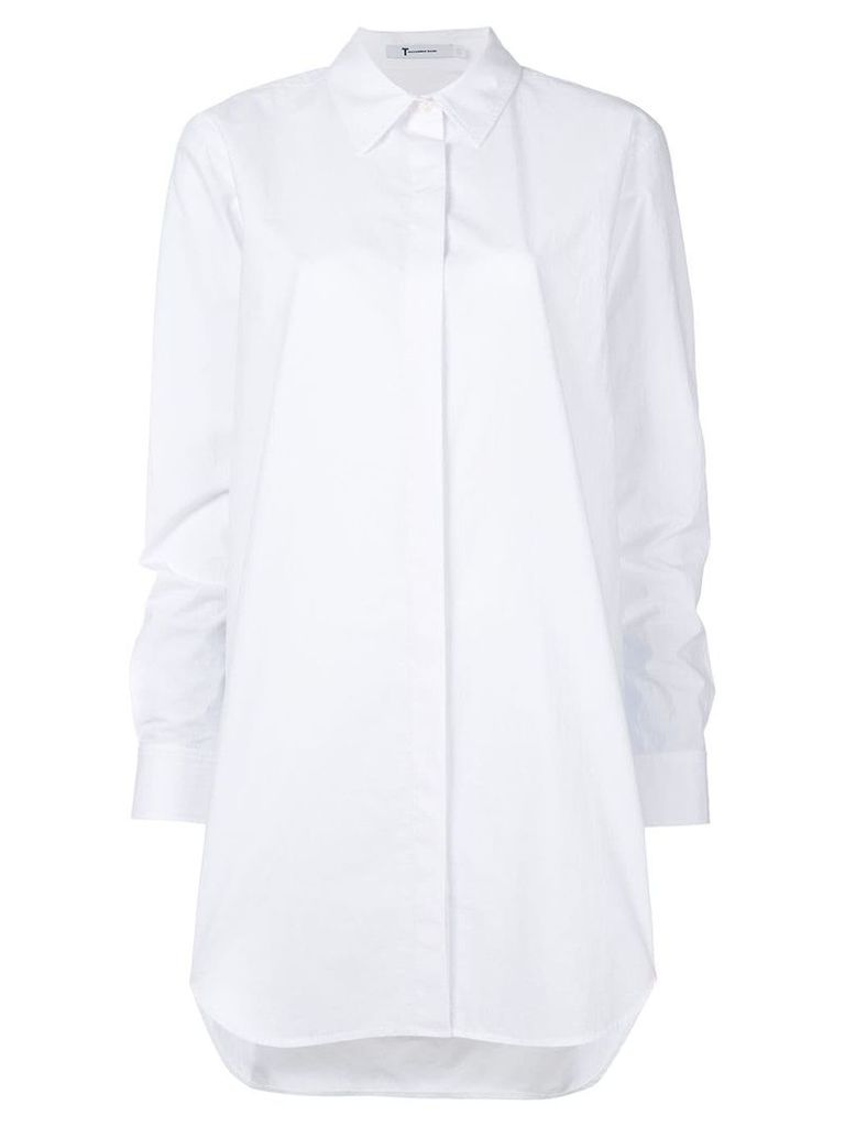 T By Alexander Wang oversized gathered sleeve shirt - White