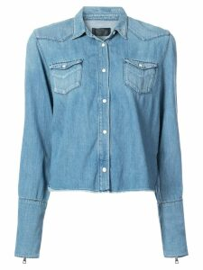 RtA raw edge denim shirt - Blue