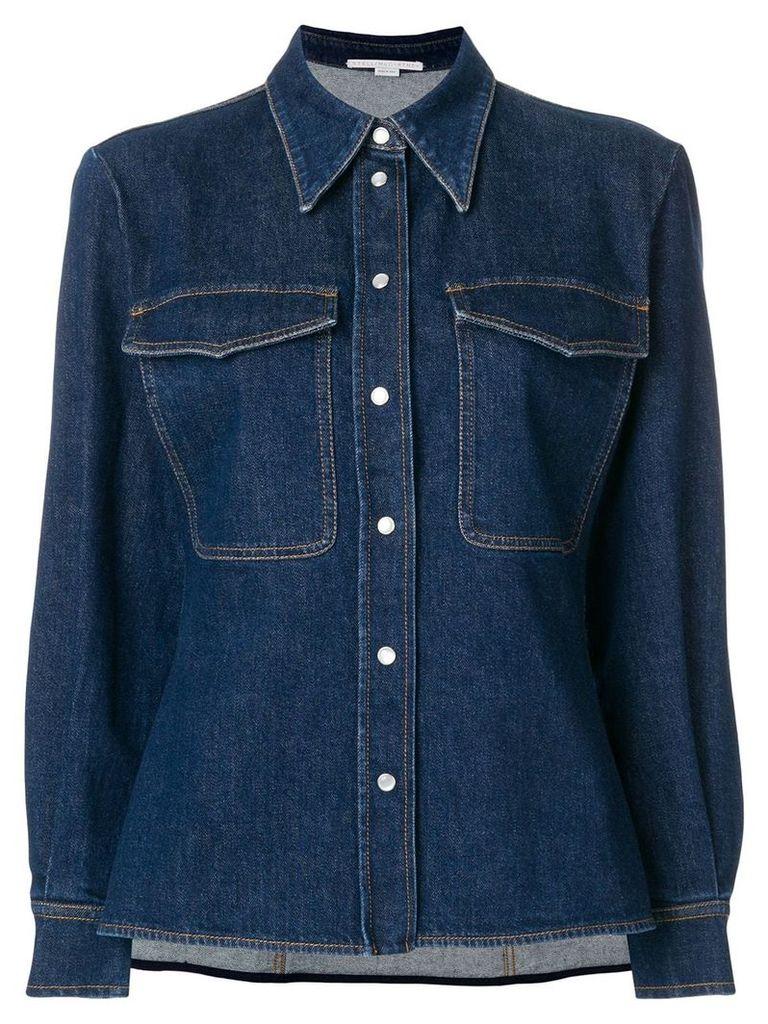 Stella McCartney Reina organic denim shirt - Blue