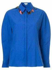 Delpozo embellished collar shirt - Blue