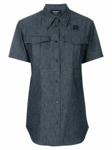Rochas short sleeve denim shirt - Black