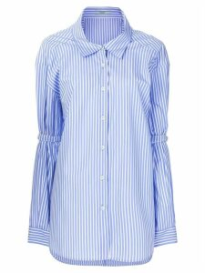 Prada pinstriped oversized shirts - Blue