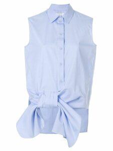 Victoria Victoria Beckham sleeveless bow shirt - Blue