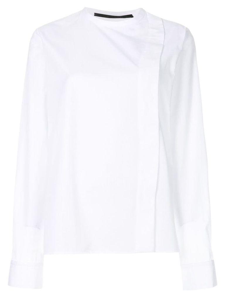 Haider Ackermann wrap front shirt - White