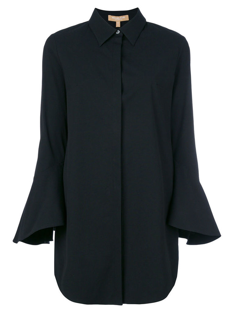 Michael Kors Collection flute sleeve longline shirt - Black