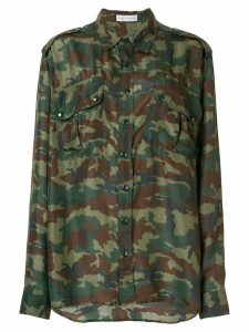 Faith Connexion camouflage print shirt - Green