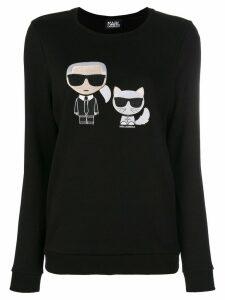 Karl Lagerfeld Karl & Choupette Ikonik Sweatshirt - Black