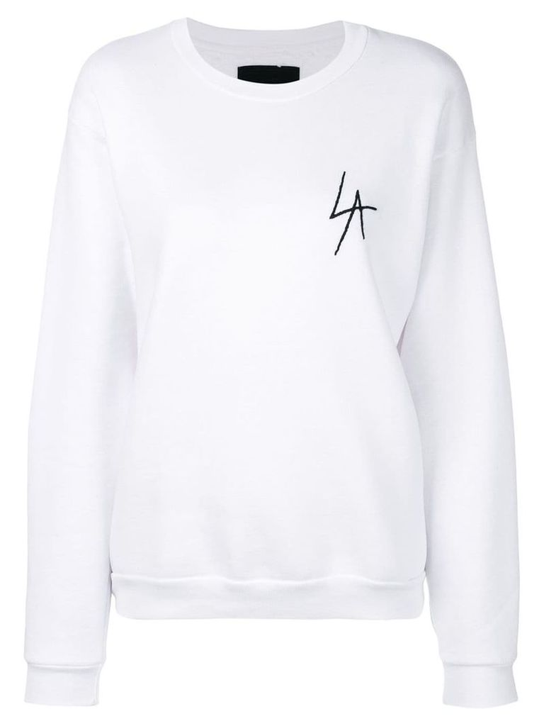 Local Authority embroidered logo sweatshirt - White