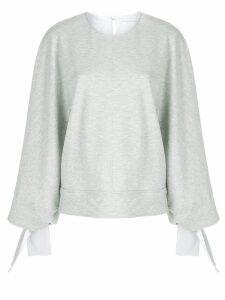 Victoria Victoria Beckham tie cuff sweater - Grey