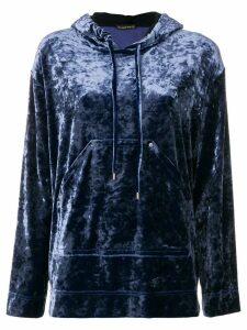 Plein Sud high shine hooded sweater - Blue