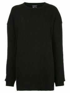 Ann Demeulemeester Dominic sheer detail sweatshirt - Black