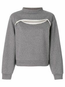 T By Alexander Wang cutout sweatshirt - Grey