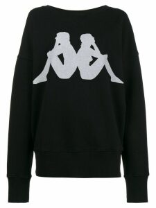 Faith Connexion x Kappa printed sweatshirt - Black