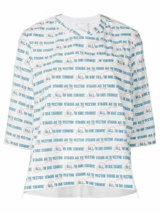 Sacai Vector print oversized T-shirt - White