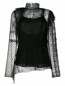 3.1 Phillip Lim lace embroidered top - Black