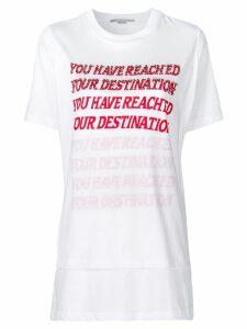 Stella McCartney embellished slogan T-shirt - White