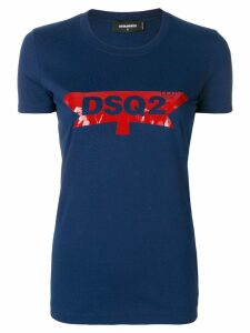 Dsquared2 logo patch T-shirt - Blue