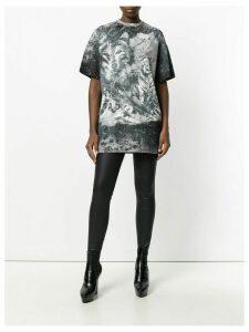 Balmain wolf and storm T-shirt - Grey
