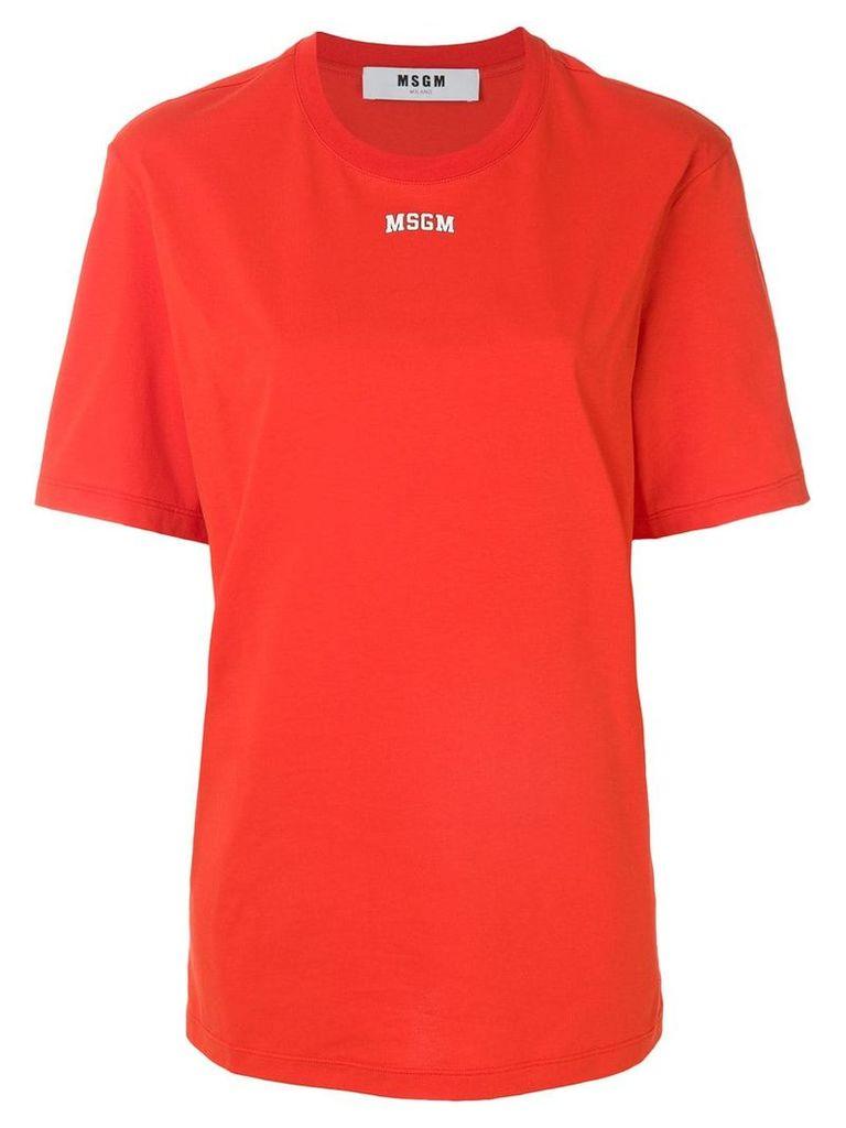 MSGM oversized logo T-shirt - Red