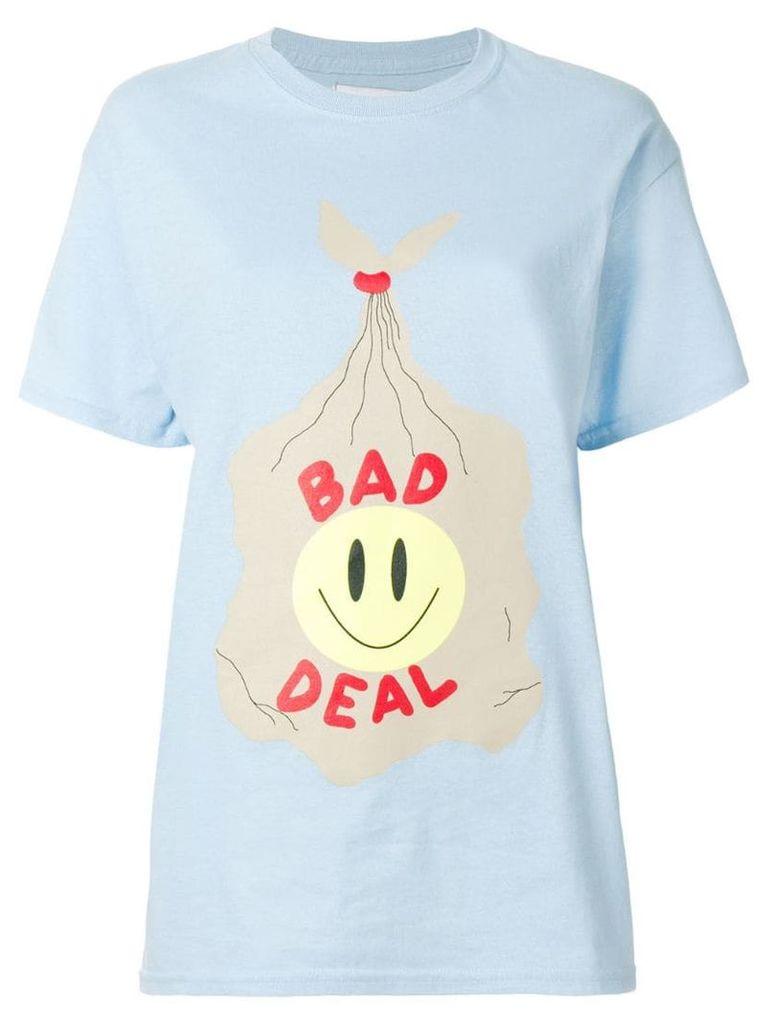Bad Deal Trash printed T-shirt - Blue