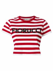 Fiorucci striped cropped T-shirt - Red