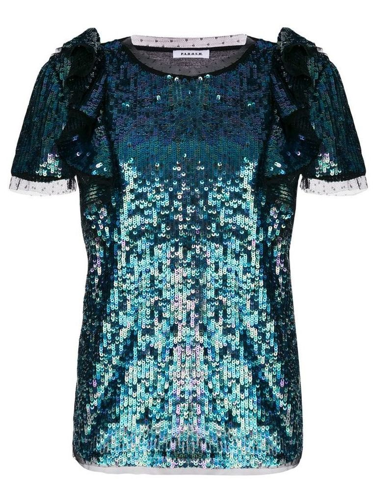 P.A.R.O.S.H. sequin top - Blue