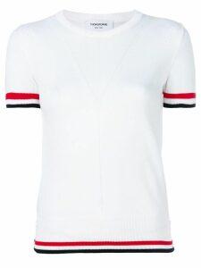 Thom Browne contrast trim T-shirt - White