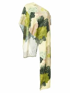 Off-White floral print one shoulder top - Green
