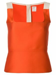 Maison Rabih Kayrouz colour-block fitted vest top - Orange