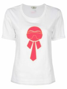 Fendi Karlito-appliqué T-shirt - White