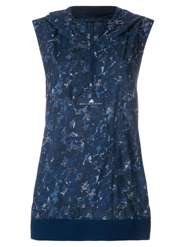Adidas By Stella Mccartney hooded running top - Blue