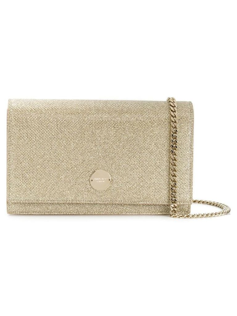 Jimmy Choo Florence sparkly crossbody bag - Neutrals