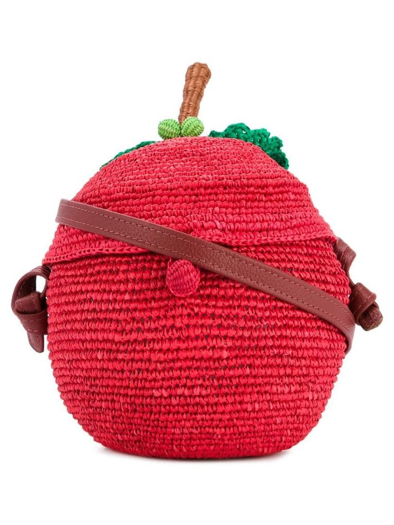 Sensi Studio apple woven bag - Red