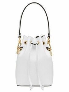 Fendi bucket mini bag - White