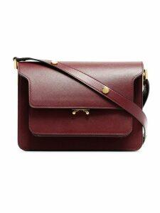 Marni Burgundy Trunk medium leather shoulder bag - Red