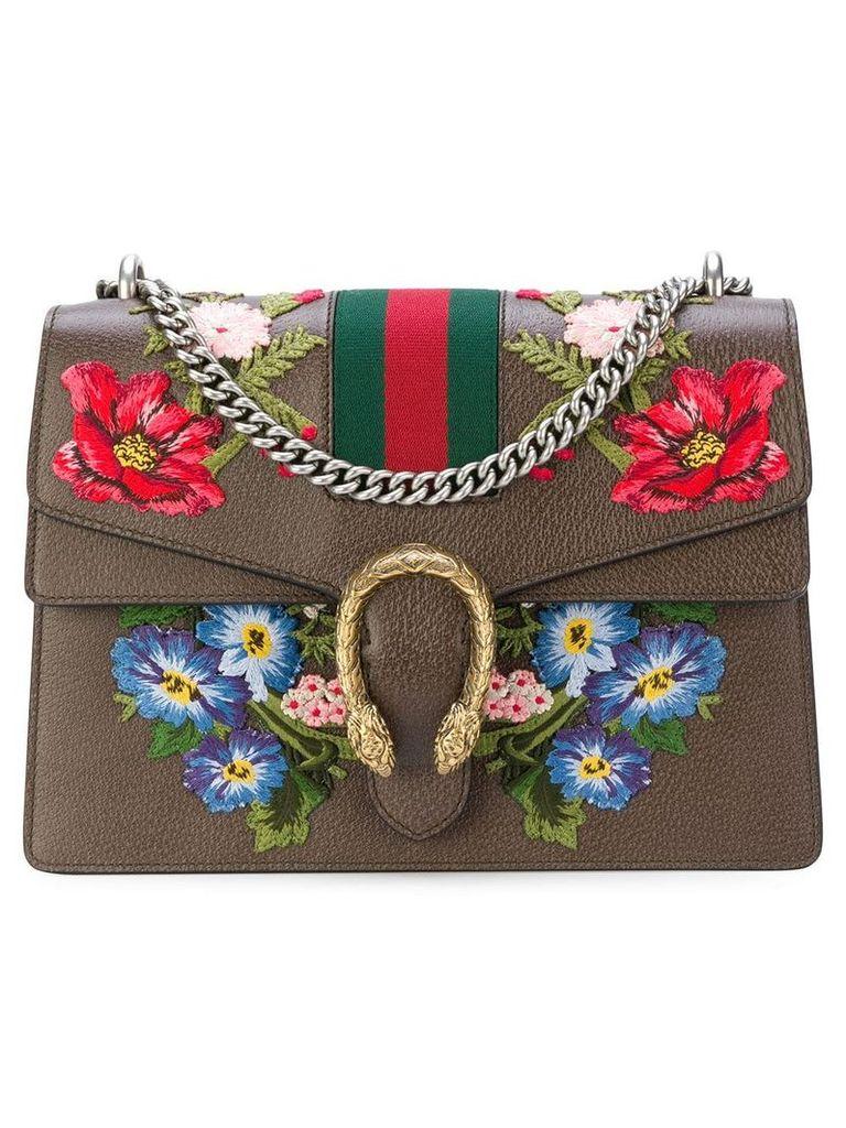Gucci Dionysus embroidered shoulder bag - Brown