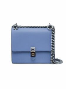 Fendi Blue Kan I Small Leather shoulder bag