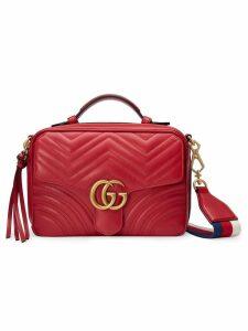 Gucci Red GG Marmont Stripe shoulder bag
