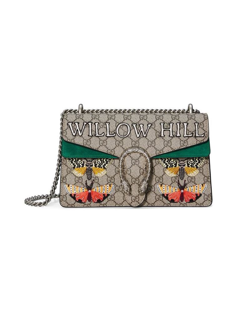 Gucci Willow Hill Dionysus Embroidered shoulder bag - Neutrals