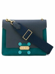 Anya Hindmarch faux fur handle crossbody bag - Blue