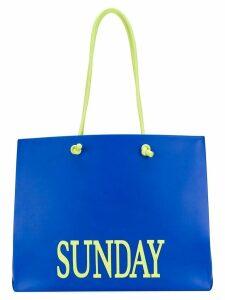 Alberta Ferretti large Sunday tote - Blue