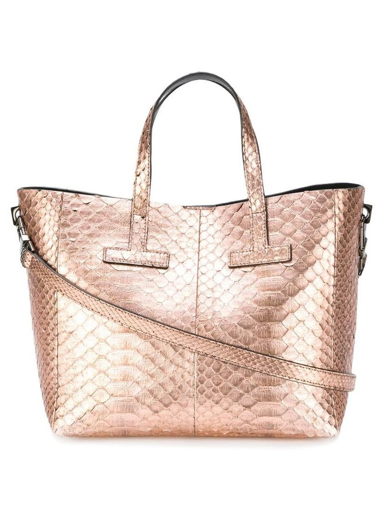Tom Ford snakeskin effect tote - Brown